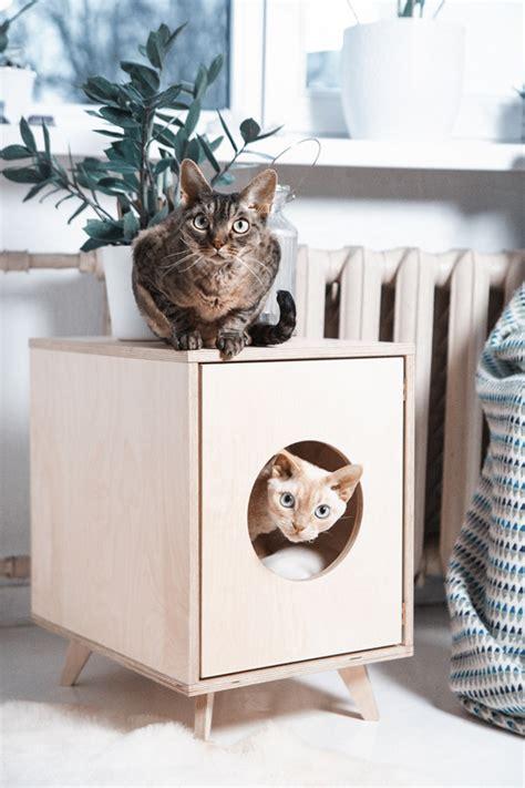 beautiful cat litter box  scandinavian style home