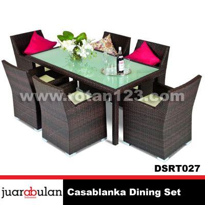 Meja Makan Anyaman harga jual casablanka dining set meja makan rotan sintetis