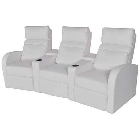 2 seater home theatre recliner sofa vidaxl 3 seater leather sofa home theatre cinema