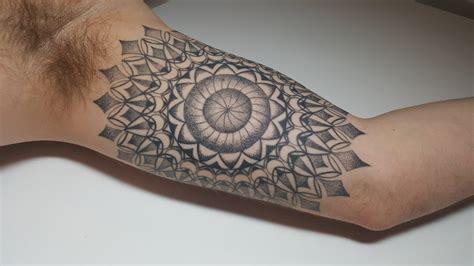 geometric tattoo ottawa start of my geometry sleeve by alicia alderson at living