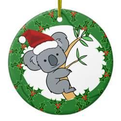 koala santa australian christmas christmas tree ornament