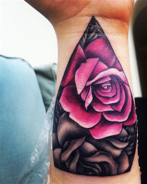 rose coverup tattoo wrist cover up pink my style