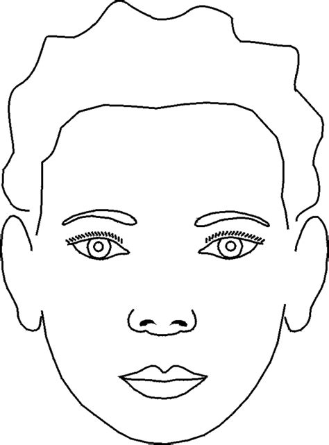 coloring page of boy face download
