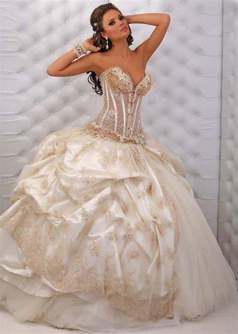 gold  white wedding dress weddings pinterest
