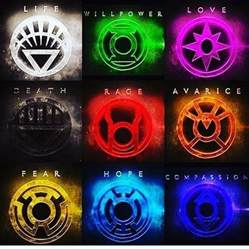 lantern colors what are all the lantern rings in dc what do they do and