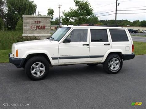 old white jeep cherokee 2000 stone white jeep cherokee sport 4x4 16029824 photo