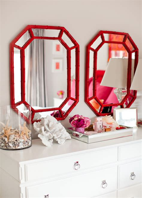red coral on glass stand contemporary home decor by red bamboo mirrors contemporary bedroom kikis list