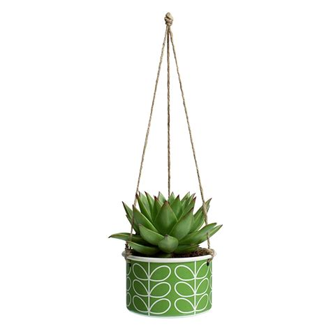 Small Hanging Plants | orla kiely small hanging plant pot in linear stem apple
