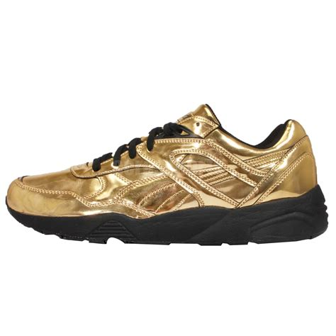 gold sneakers x vashtie r698 g liquid gold mens retro running shoes