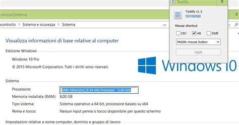 copiare testo quando non si pu 242 su windows con textify