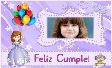 imagenes feliz cumpleaños sofia fotomontajes de princesa sof 237 a fotomontajes infantiles