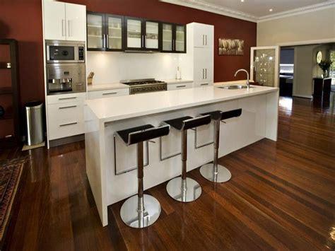 modern galley kitchen design using floorboards kitchen