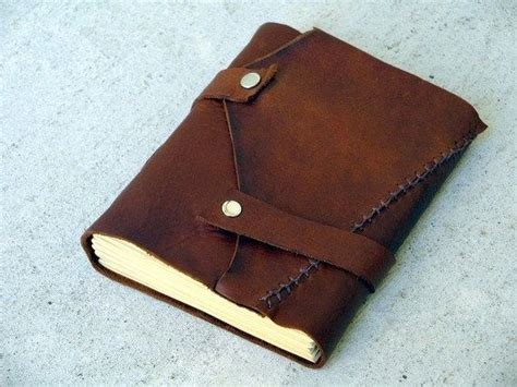 Handmade Leather Journal Tutorial - make your own leather journal