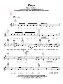 Cups when i m gone sheet music by anna kendrick ukulele 153660
