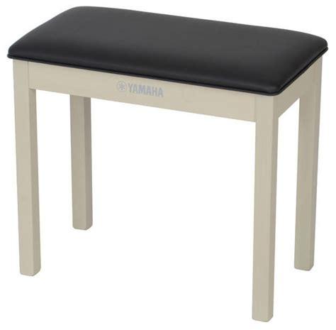 yamaha bench yamaha b1wa piano bench white ash at gear4music com
