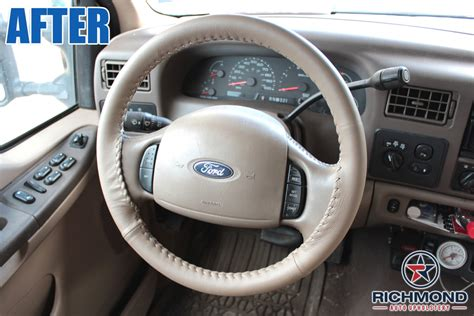richmond auto upholstery richmond va 2000 2004 ford f 350 lariat leather steering wheel cover