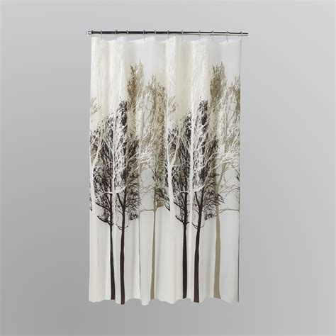 forest curtain essential home peva shower curtain forest home bed