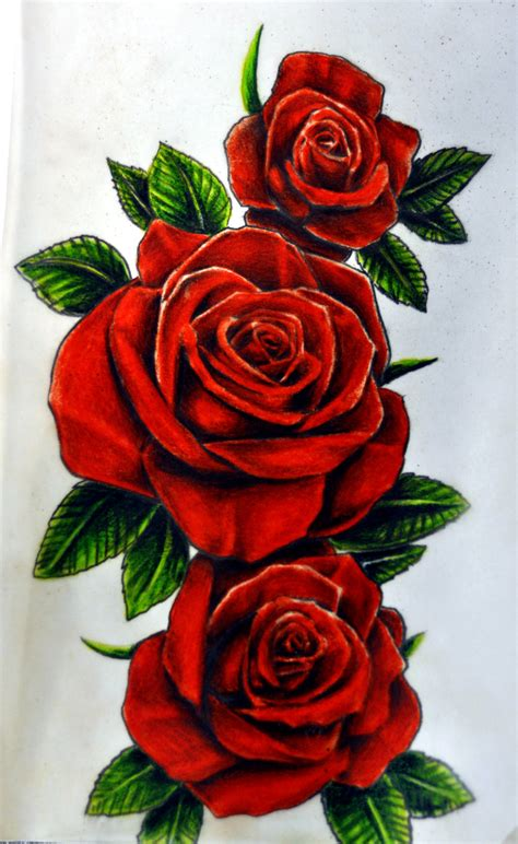 red roses tattoo design roses by karlinoboy on deviantart