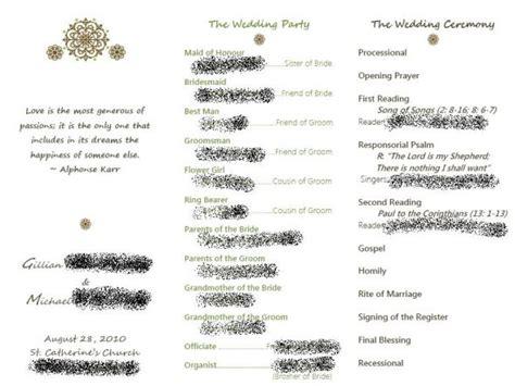 Catholic Ceremony Program No Mass Weddingbee Catholic Wedding Ceremony Program Without Mass Template