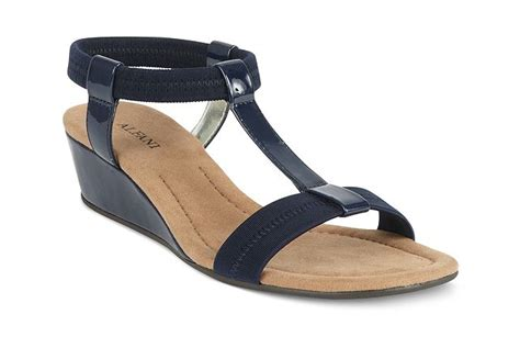 Sakia Sandiego Wedges Sandal Navy navy blue sandal wedges my favorite summer sandal v style