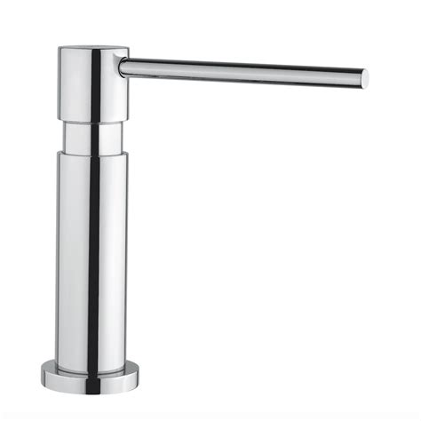 modern kitchen soap dispenser chrome finish