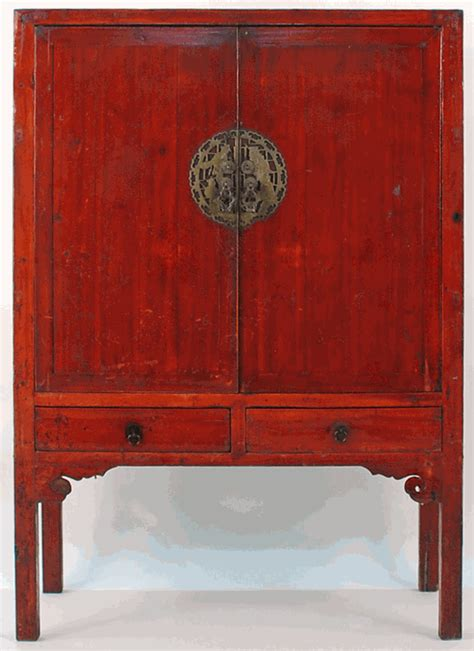 Antique Asian Furniture: 2 Door Armoire Cabinet from Southern China