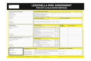 free legionella risk assessment template legionella risk assessment form for landlords