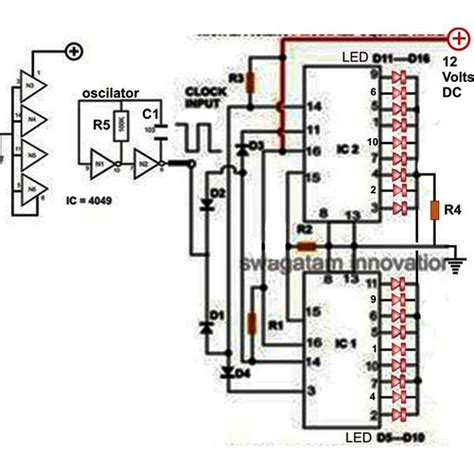 integrated light circuit how to make a 18 led light chaser circuit using two ic 4017 search results ask home design