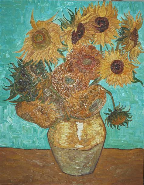 vaso con girasoli gogh i quadri di gogh vaso con 12 girasoli