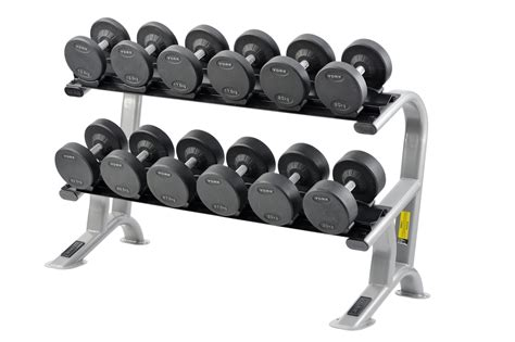york 2 tier pro style dumbbell rack 6 pairs fitness