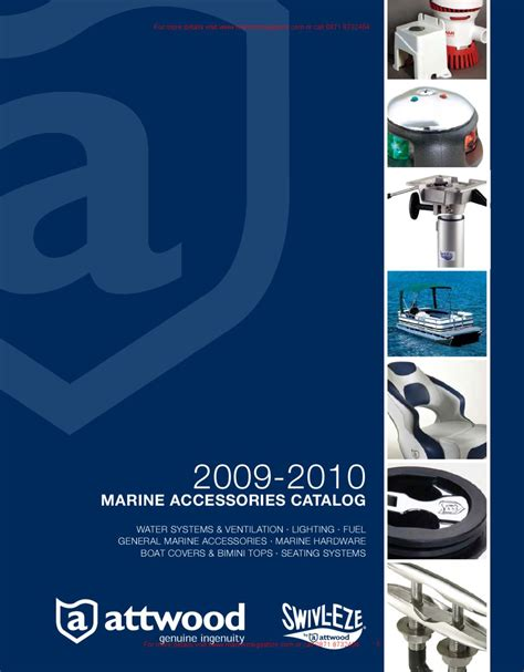 boat accessories stores attwood 2009 2010 marine accessories catalog by marine