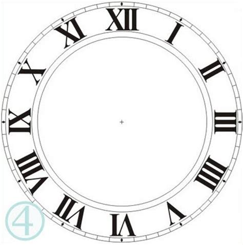 printable midnight clock printable clock face without hands clipart best