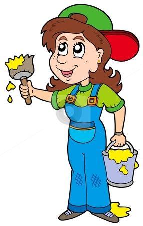 house painter clipart clip art female painting clipart clipart suggest
