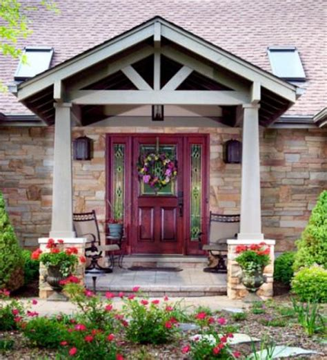 Adding On A Front Porch gable roof entry door decorating ideas
