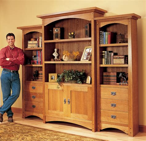 pdf large bookcase plans plans free