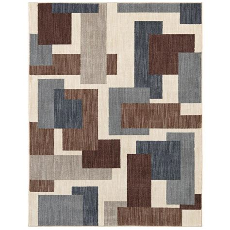 mohawk home forte dark cocoa 8 ft x 10 ft area rug the shop mohawk home barrage beige rectangular indoor machine