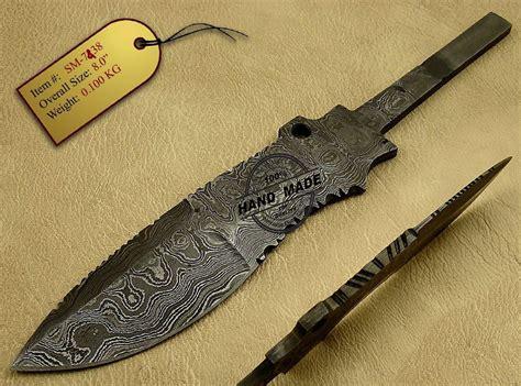 custom knife blanks blank blade damascus knife custom handmade damascus steel