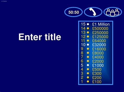 Who Wants To Be A Millionaire Template Who Wants To Be A Millionaire Template With