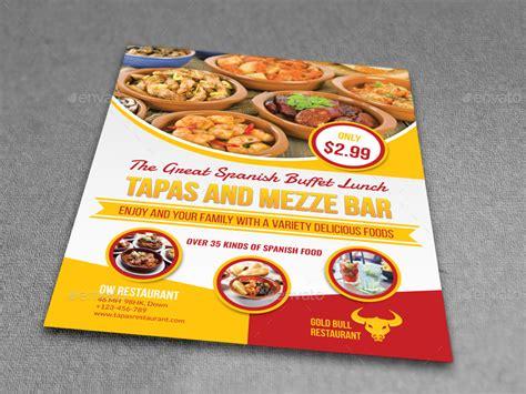 restaurant flyer restaurant flyer template vol 14 by owpictures graphicriver