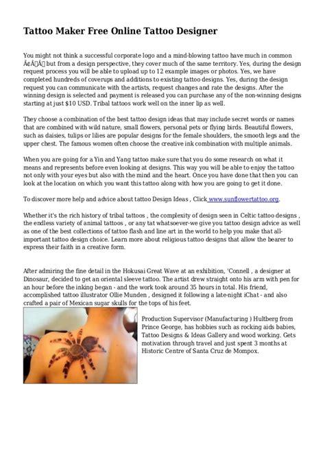 tattoo maker online free tattoo maker free online tattoo designer