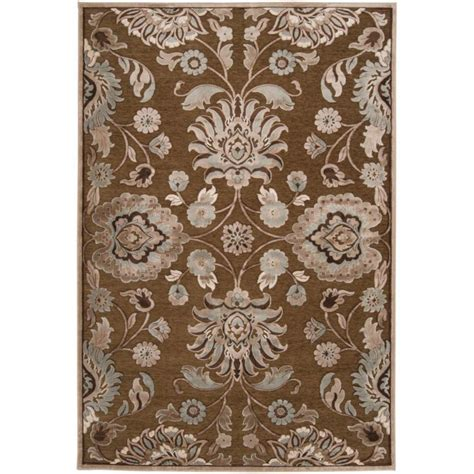 viscose and chenille rugs artistic weavers chocolate viscose chenille 4 ft x 5 ft 7 in area rug the home