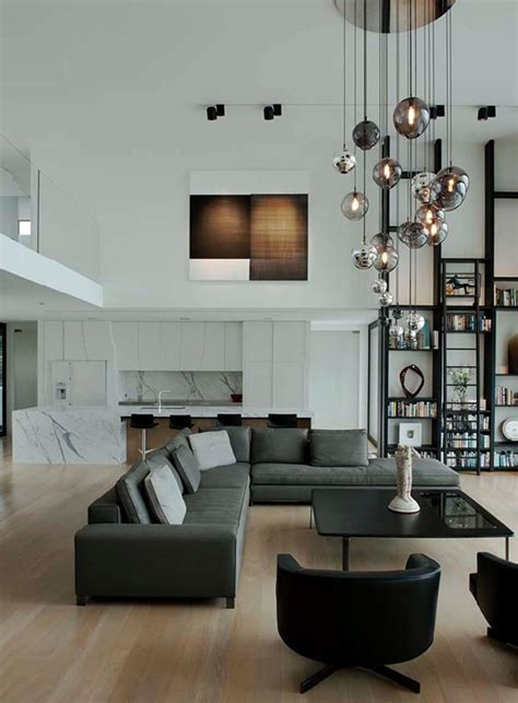 Living Room Lighting High Ceiling How To Decorate Interiors With High Ceilings Freshome