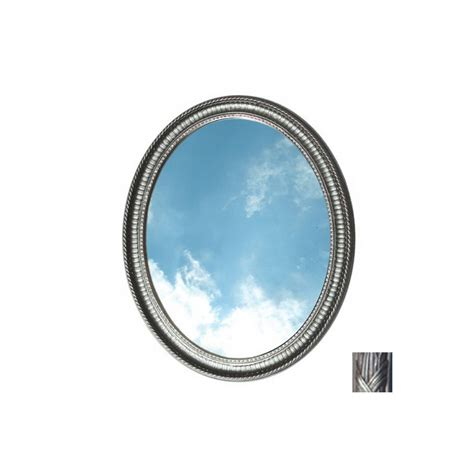 Oval Bathroom Mirrors Lowes Shop American Pride Middleton 31 In H X 25 In W Pewter