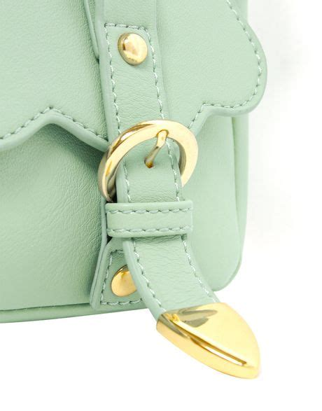 Ruched Across Bag At Asos by Asos Scallop Buckle Across Bag In Green Mint