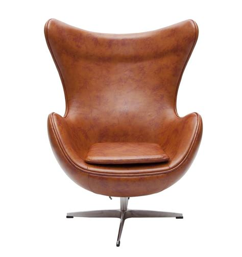 leather egg chair retro faux leather egg chair by i retro
