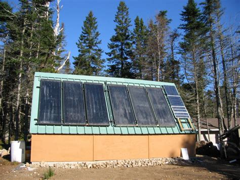 pauls solar shed heating system