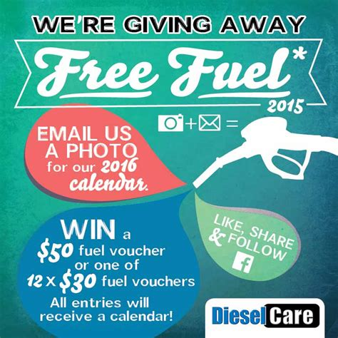 Fuel Giveaway - free fuel giveaway 2015 photo competition diesel care