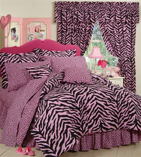 pink zebra print bedding set interiordecorating