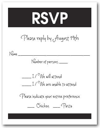rsvp for an event card template rsvp vs regrets only what should you use on your