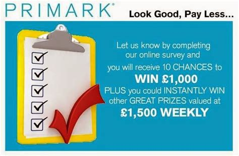 About Com Daily Sweepstakes - tell penneys primark in survey sweeps win 163 1 000 daily or 163 1 500 weekly
